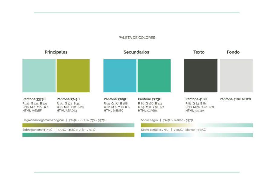 Paleta de color, manual de marca