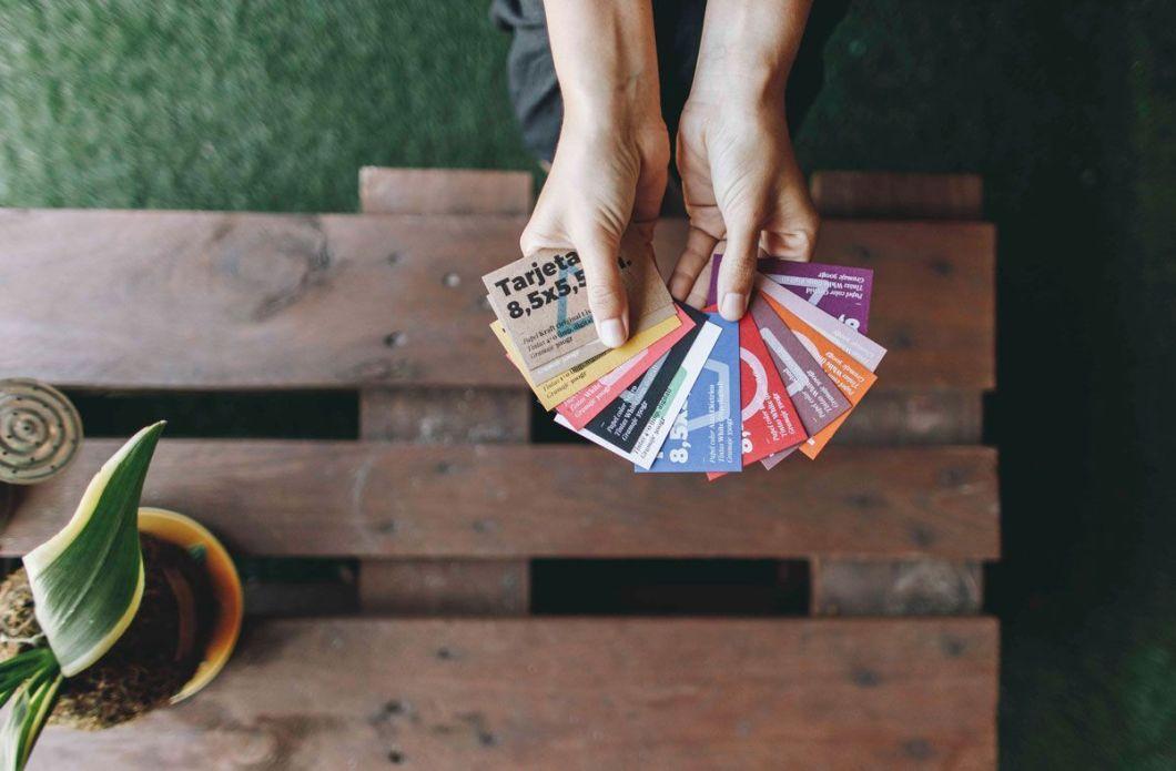 Diseño ecológico, papeles colores a una tinta, impresumprint