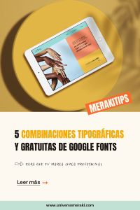 5 combinaciones tipográficas de google fonts
