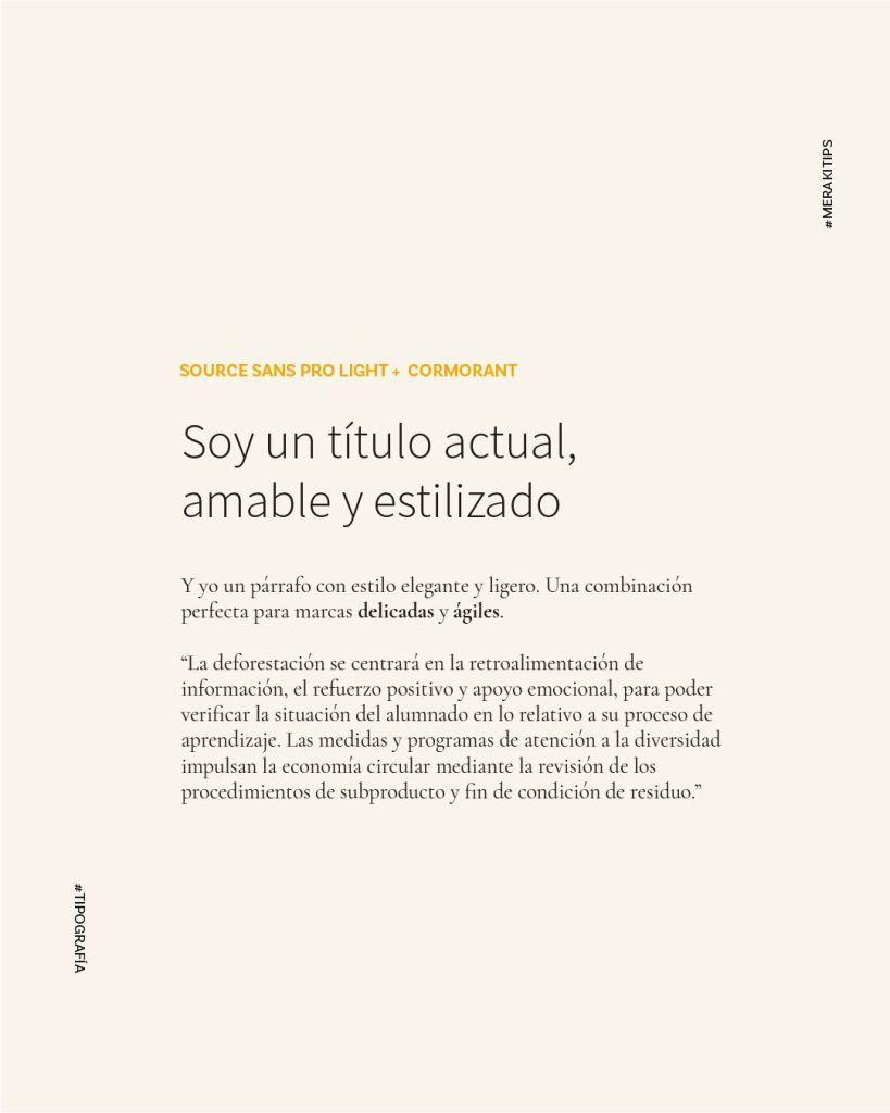 Source Sans Pro y Cormorant, combinando tipografías de google fonts