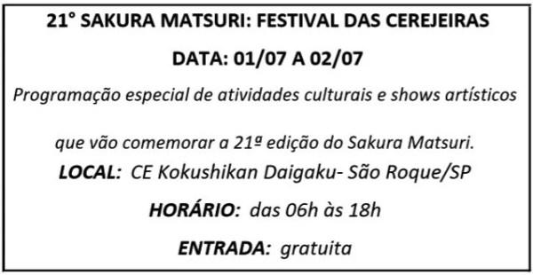 01 SAKURA MATSURI - Agenda