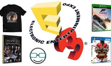 capa sorteios e32017 - E3 2017: Prêmios do Projeto Universo NERD!