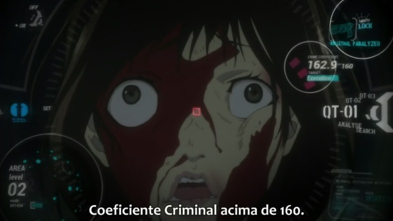 """mina acima de 160 - Spoiler ao Molho Contexto: A Justiça """"Verdadeira"""" Em Psycho-Pass 1x1"""