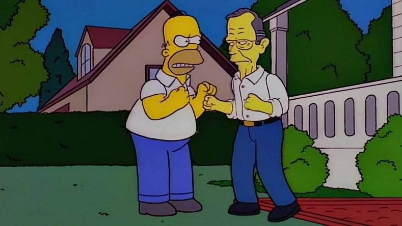 """George Bush e Homer 300x169 - Os Simpsons de """"A"""" À """"Z"""": Paródias De Filmes, Personalidades Famosas, Personagens E Curiosidades (Parte 6)"""