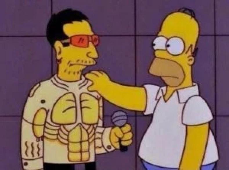 """simpsons e u2 300x223 - Os Simpsons de """"A"""" À """"Z"""": Paródias De Filmes, Personalidades Famosas, Personagens E Curiosidades (Parte 6)"""