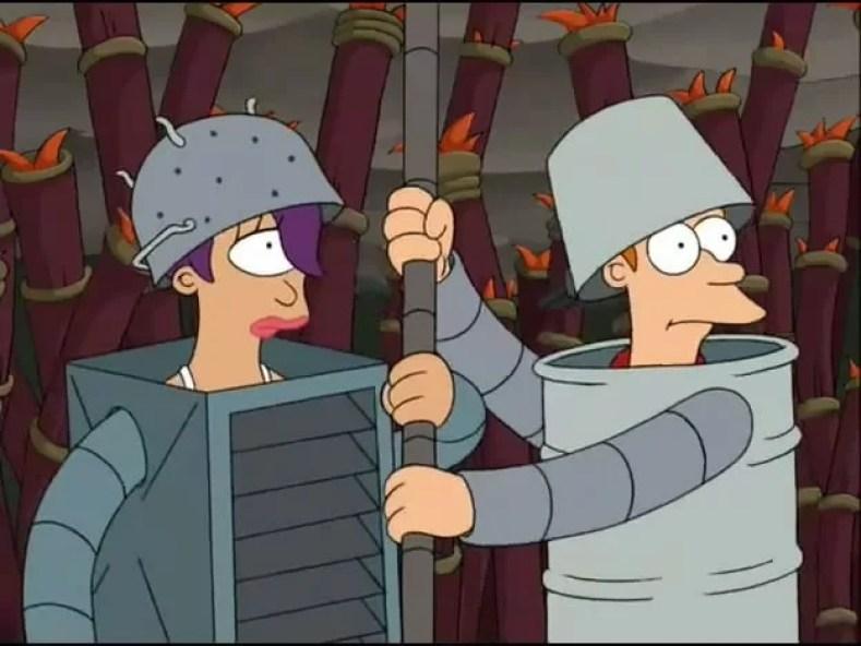 fry e leela planeta robos 300x225 - Futurama De A À Z (Parte 2): Um Pouco Sobre A Série, Personagens E Uma Curiosidade