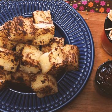 Receita: Dadinho de tapioca com queijo coalho