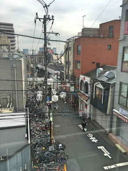 Typical narrow street in Shiimokitazawa