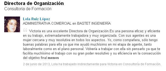 Lola Ruiz López - Admon Comercial - Bastet Ingeniería