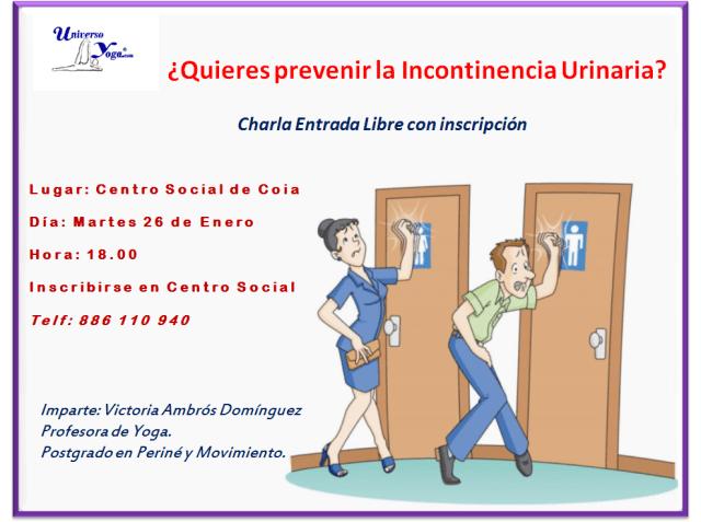 Charla sobre Incontinencia de orina- 26Enero2016