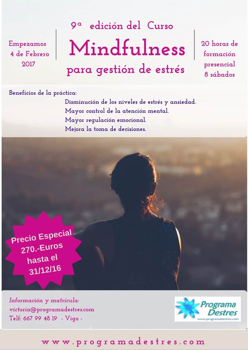 Mindfulness para gestión de estrés en Vigo Febrero 2017