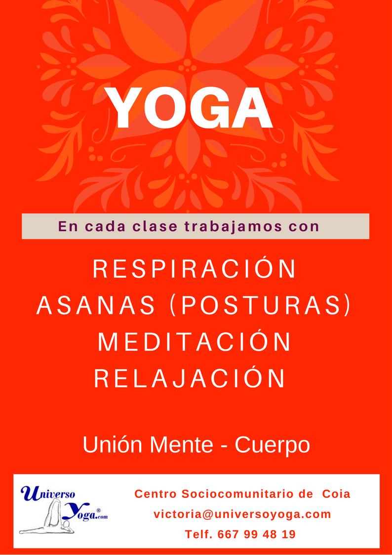 La clase de yoga se compone de estas prácticas