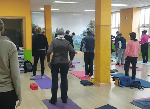 Vídeo de la clase de yoga hoy, puedes verlo aquí