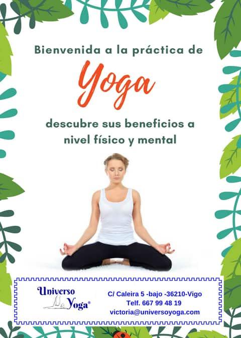bienvenida a la práctica de yoga