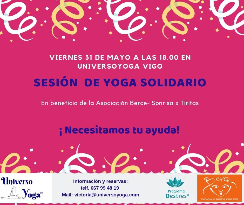 Jornada yoga Solidario 31 de Mayo