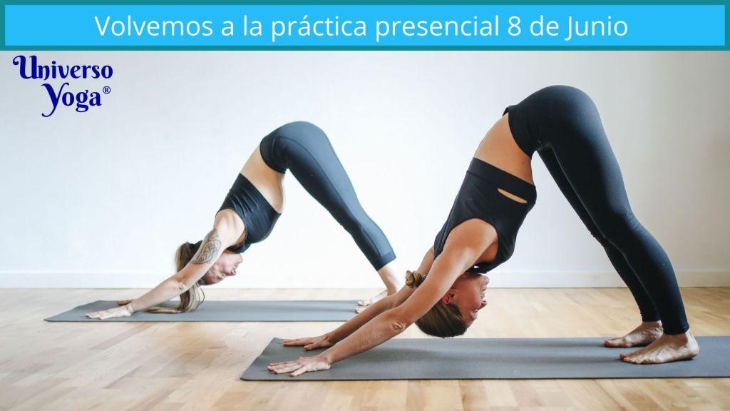reiniciamos la práctica de yoga presencial