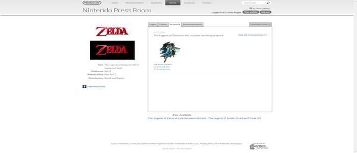 La web de prensa Nintendo USA dice que Zelda saldrá en