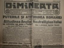Ziarul Dimineata ; Director C - tin Mille , 26 Iulie 1914 ; Razboiul si Romania 2