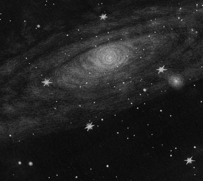 Messier 31 -centre-254mm dobson - Dr Johanes Schilling