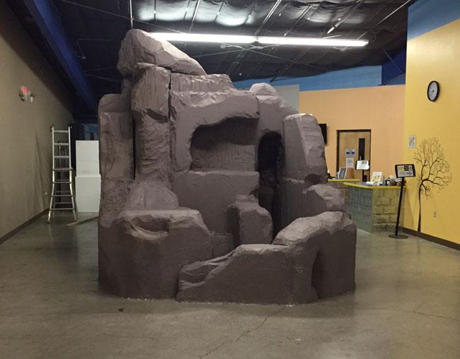 EPS Foam blocks to create giant rock formation  Universal Foam Products  Styrofoam  EPS Foam