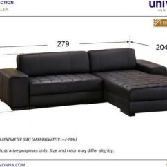 Full Leather Recliner Sofa Singapore Starship Furniture Alex L-shaped | Univonna