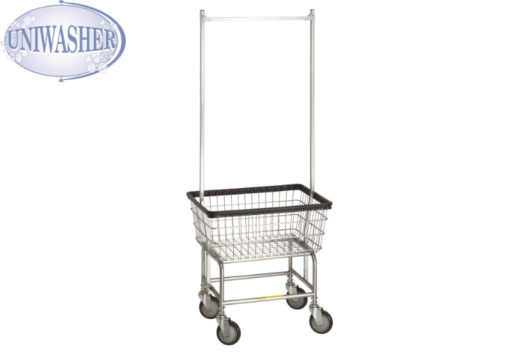 100e58 r&b deluxe laundry cart w/ double poles