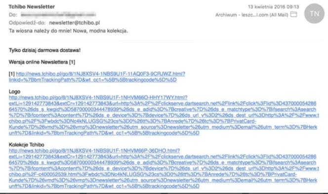 email przykład zły