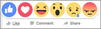 reakcje na FB