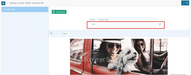 linkowanie - slider Shoper