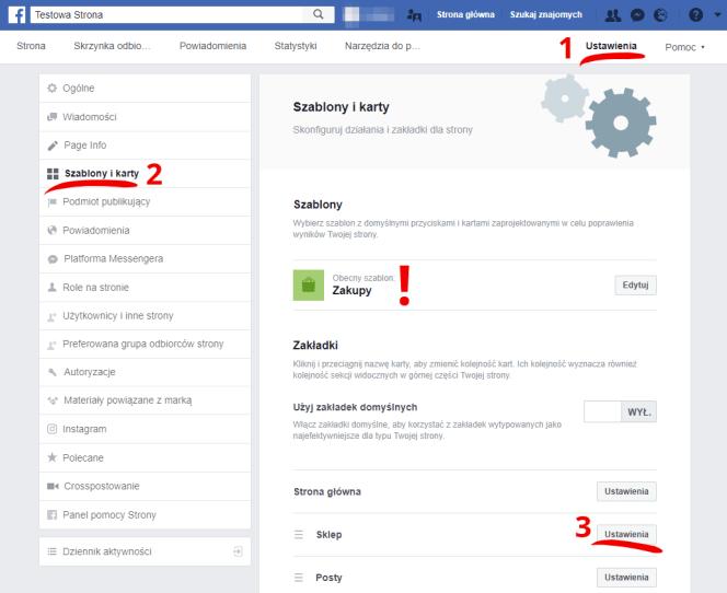 jak włączyć sklep na Facebooku