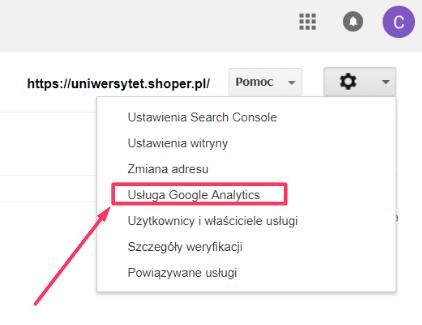 Usługa Google Search Console
