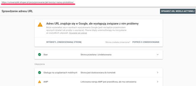 Sprawdzanie adresu URL