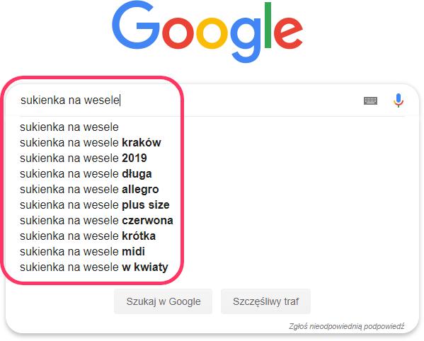 Sukienka na wesele Google