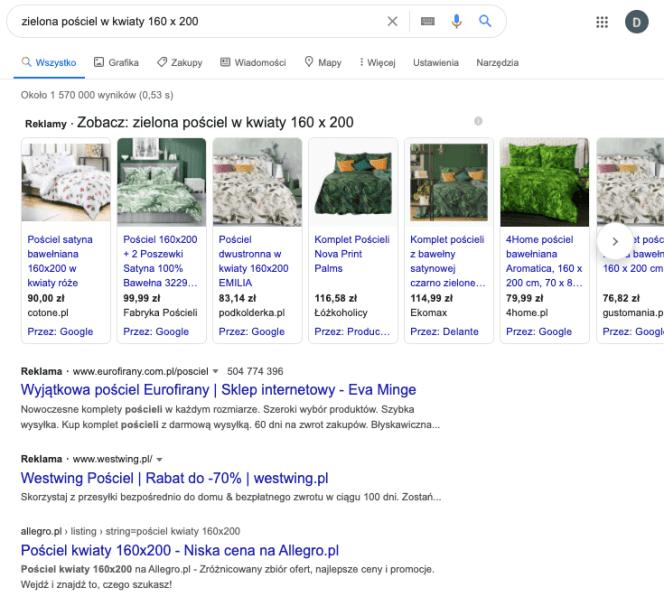 Strona główna Google – SERP