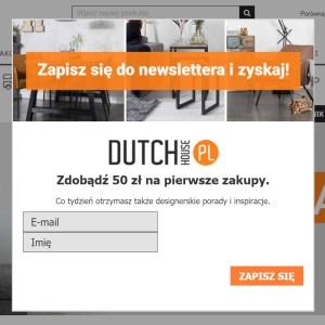 DutchHouse.pl – przykład okienka