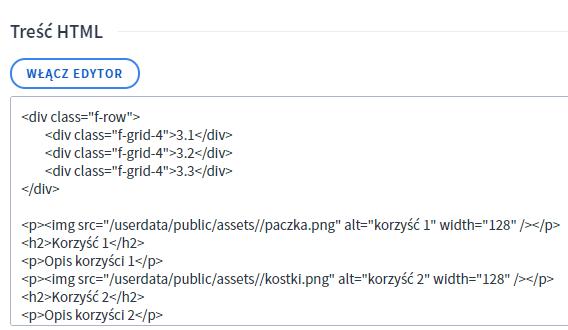 Dodawanie kodu HTML