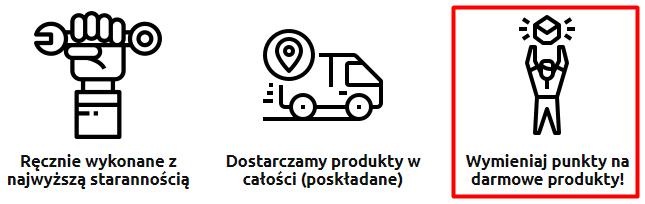 Wymieniaj punkty na darmowe produkty