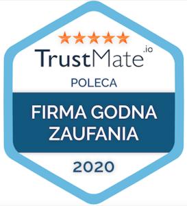 Trustmate - firma godna zaufania - certyfikat