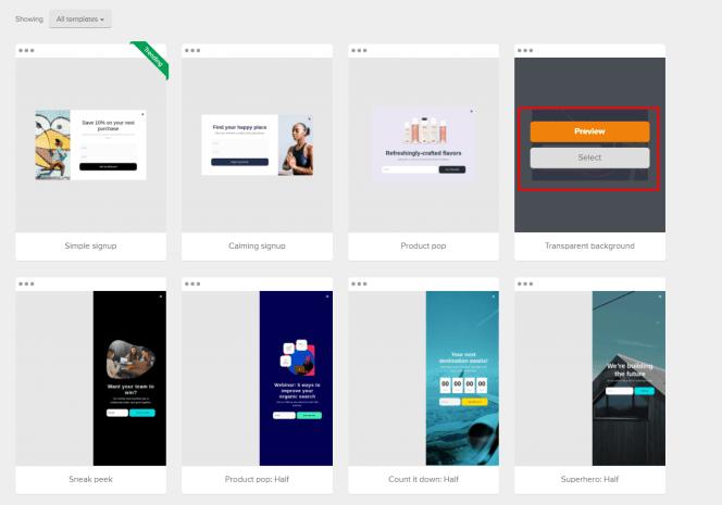 MailerLite – tworzenie pop-upu