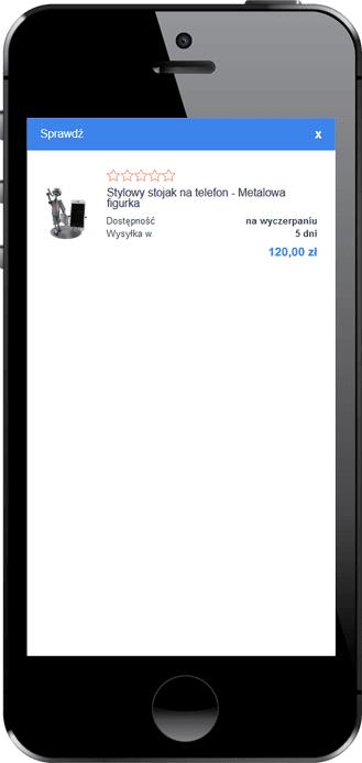 lokowanie produktu na blogu – mobile