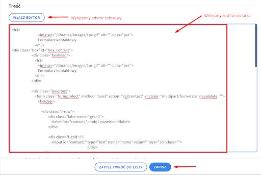 Edytor tekstowy HTML