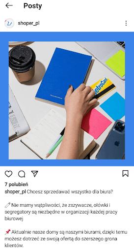 Zdjęcia produktowe na Instagramie