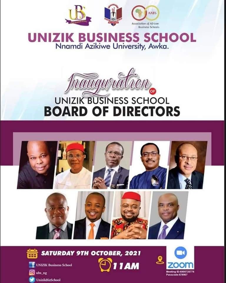 UNIZIK PRO-CHANCELLOR INAUGURATES BOARD OF DIRECTORS, UNIZIK BUSINESS SCHOOL
