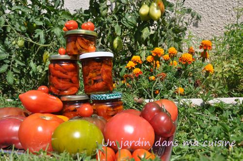 tomates confites un jardin dans ma cuisine
