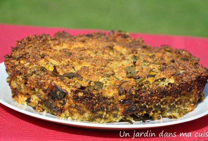 gâteau de poulet au quinoa