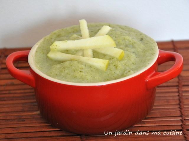 soupe pommes brocoli un jardin dans ma cuisine