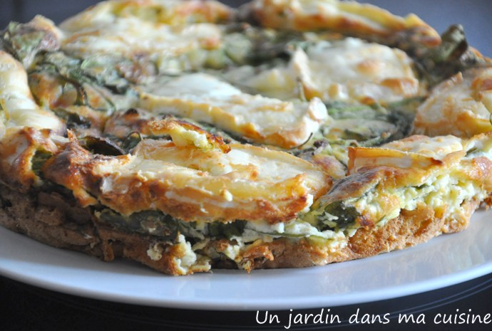 quiche pourpier et cabriol