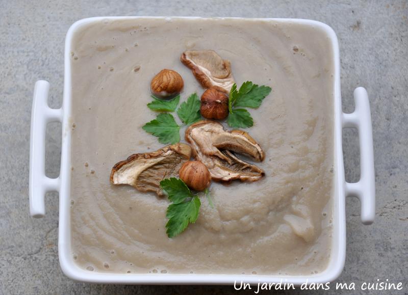 soupe de radis noir aux champignons un jardin dans ma cuisine