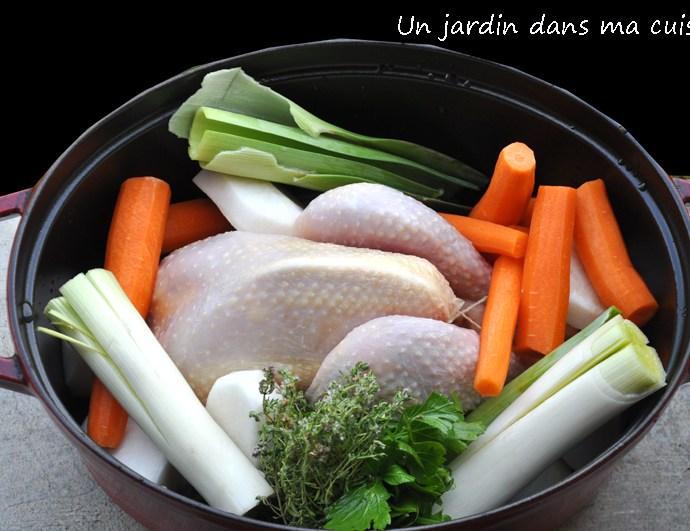 poule aux légumes