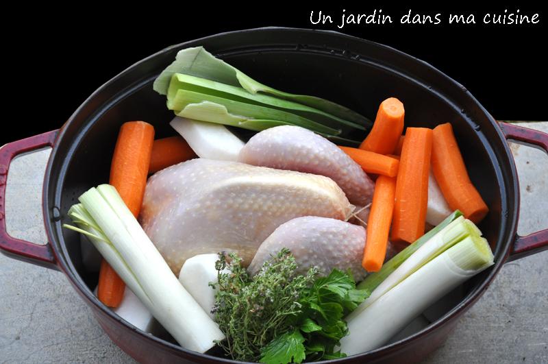 poule aux légumes un jardin dans ma cuisine